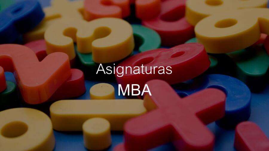 Qué se estudia en un MBA